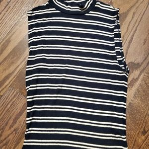 Garage Striped Mock Neck Vest